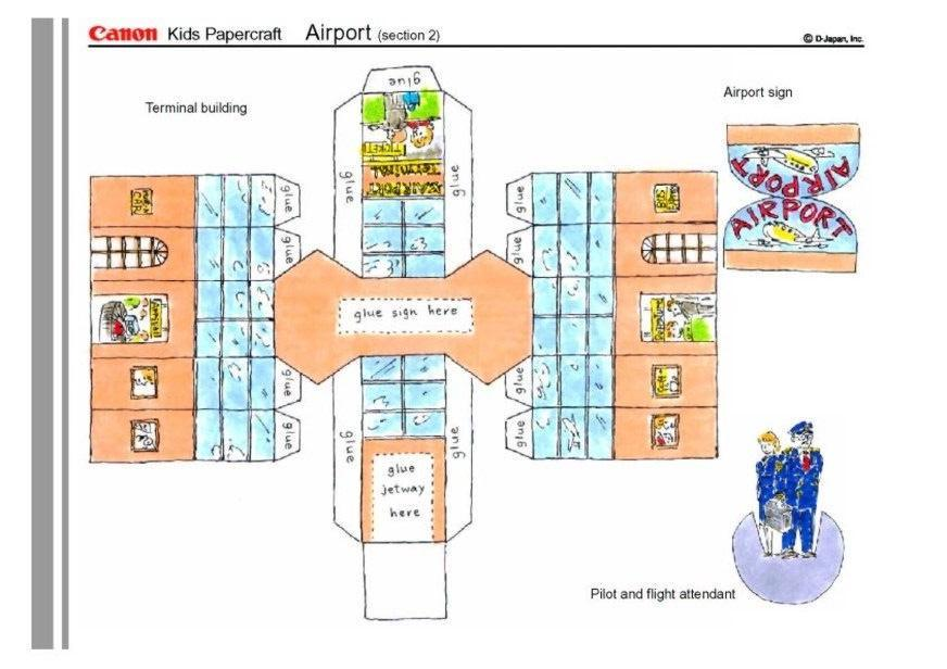 basteln flughafen 2 basteln f r kinder 4666. Black Bedroom Furniture Sets. Home Design Ideas