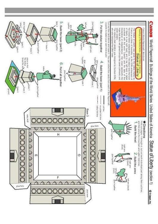 basteln freiheitsstatue 1 basteln f r kinder 4682. Black Bedroom Furniture Sets. Home Design Ideas