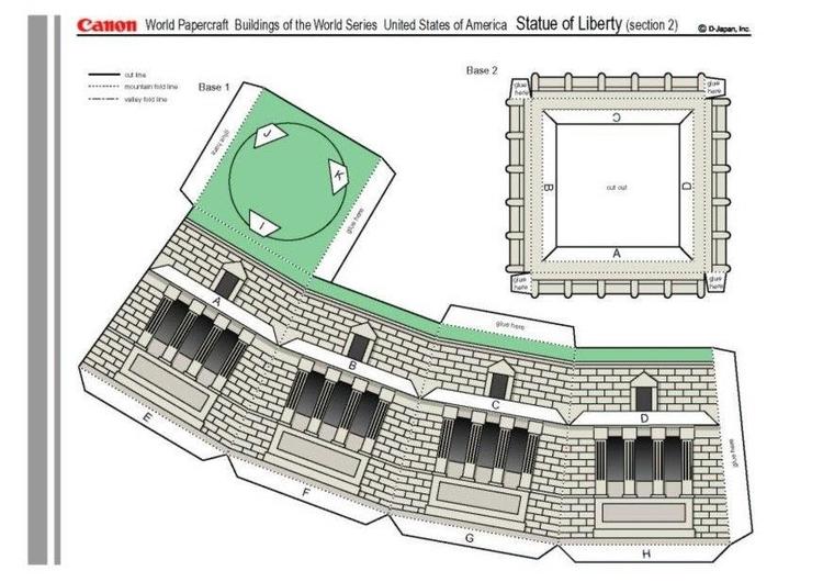 basteln freiheitsstatue 2 basteln f r kinder 15518. Black Bedroom Furniture Sets. Home Design Ideas