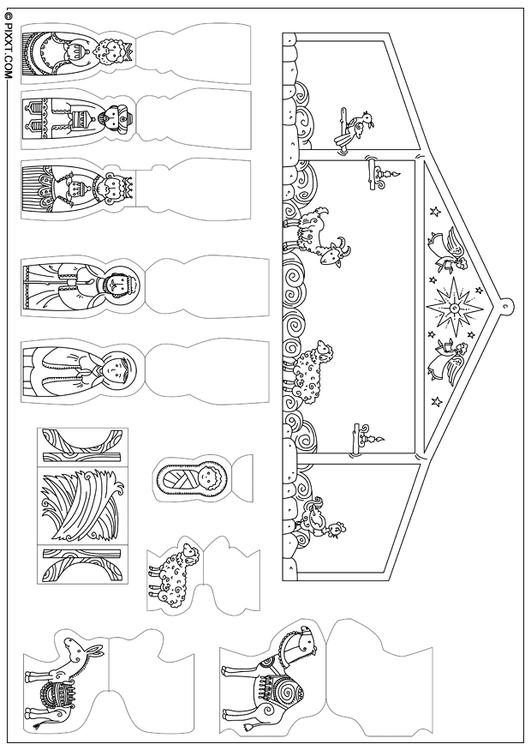 basteln krippenspiel basteln f r kinder 28192. Black Bedroom Furniture Sets. Home Design Ideas