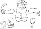 Basteln Pirat - Marionette
