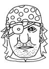 Basteln Piratenmaske