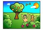 Bild Adam und Eva - glücklich