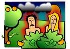 Bild Adam und Eva - traurig
