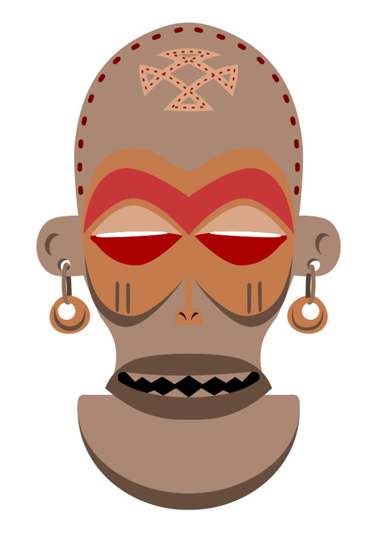 Bild Afrikanische Maske Zaire Angola Abb 27455
