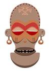 Bild afrikanische Maske - Zaire - Angola