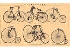 Bild alte Fahrräder