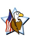 Bild Amerikanische Fahne mit Adler