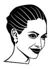 Malvorlage  Angelina Jolie