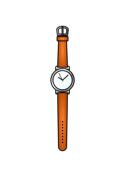 Armbanduhr ausmalbild  Bild Armbanduhr - Abb. 28302