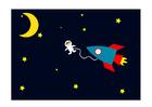 Bild Astronaut im Weltraum