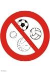 Bild Ballspiel verboten