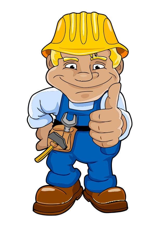 Bauarbeiter zeichnung  Bild Bauarbeiter - Abb. 28477