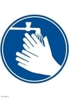 Bild Bitte Hände waschen