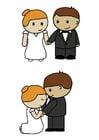 Bild Braut und Bräutigam