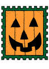 Bild Briefmarke Halloween