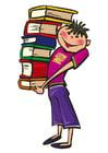 Bild Bücher tragen
