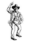 Malvorlage  Cowboy