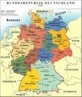 Bild Deutschland - politische Karte BRD 2007