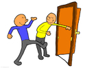 Bild die Türe aufhalten