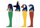 Bild die vier Söhne von Horus