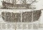 Bild Dreimaster Kriegsschiff Querschnitt