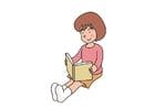 Bild ein Buch lesen