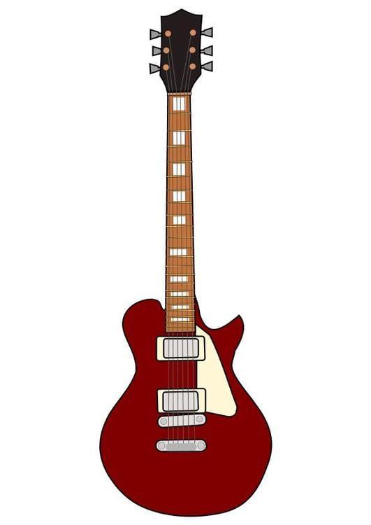 ausmalbilder e-gitarre