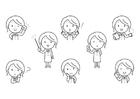 Malvorlage  Emotionen - Lehrer