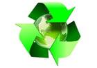 Bild Erde - Recycling