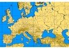 Bild Europa mit Berglinien und Flüssen