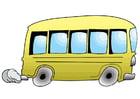 Bild fahrender Bus