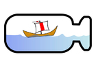 Bild Flaschenschiff