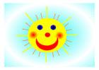 Bild fröhliche Sonne