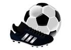 Bild Fussballschuhe und Ball
