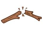 Bild gebrochener Zweig