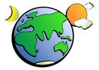Bild Globus Tag und Nacht