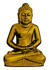 Bild goldener Buddha