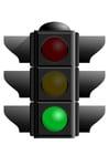 Bild grüne Verkehrsampel