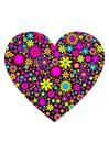 Bild Herz mit Blumen