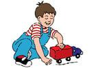 Bild Junge mit Auto