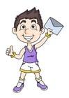 Bild Junge mit Brief