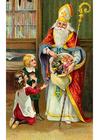 Bild Kinder beim Weihnachtsmann