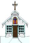 Bild Kirche im Winter