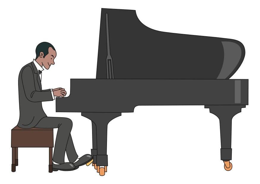 bild klavier spielen  kostenlose bilder zum ausdrucken