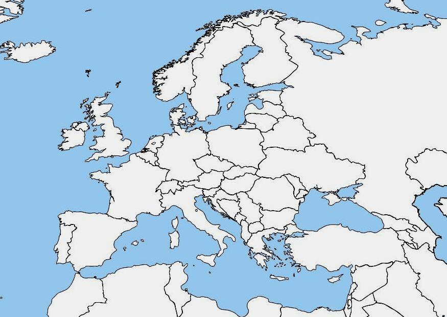 Bild leere Europakarte   Abb. 7464