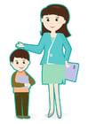 Bild Lehrer und Schüler