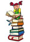 Bild Lesen auf Büchern