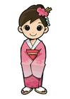 Bild Mädchen im Kimono