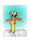 Bild Mädchen im Schnee